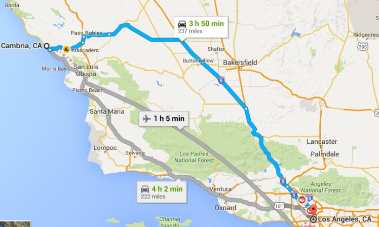 cambria to LA